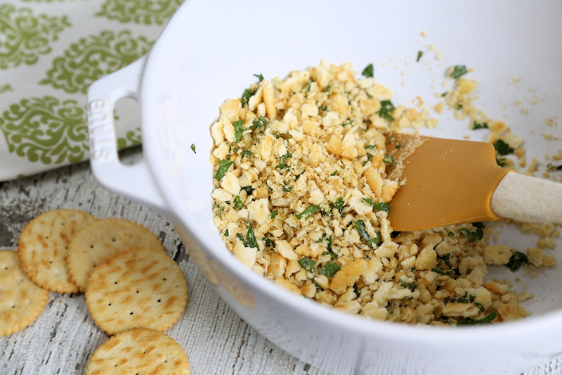 Italian Cracker Topping for baked cod