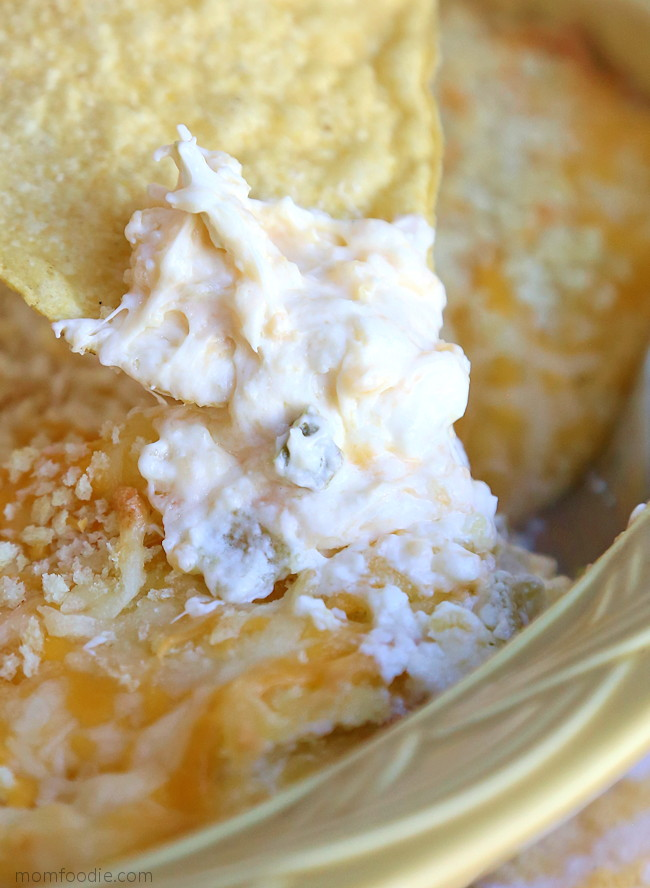 Jalapeno Popper Dip with chips
