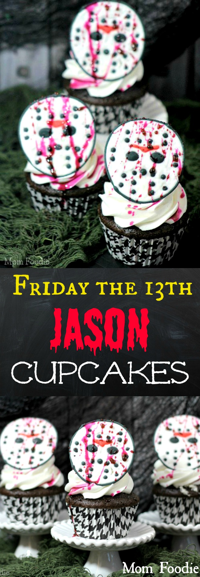 Friday the 13th Jason Cupcakes - Homemade Halloween Cupcakes great for Horror theme parties