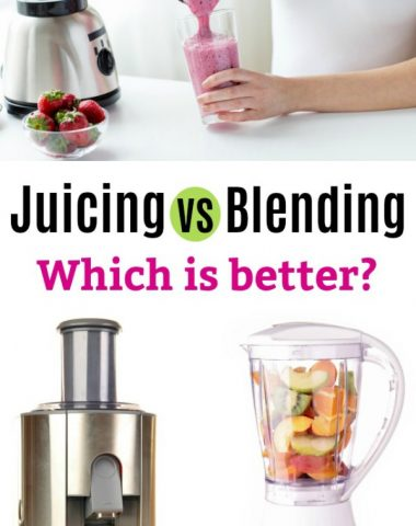 Juicing vs Blending --- which is better for you?