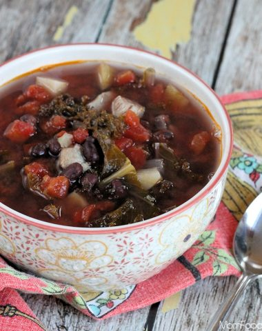 Kale Black Bean Chicken Soup