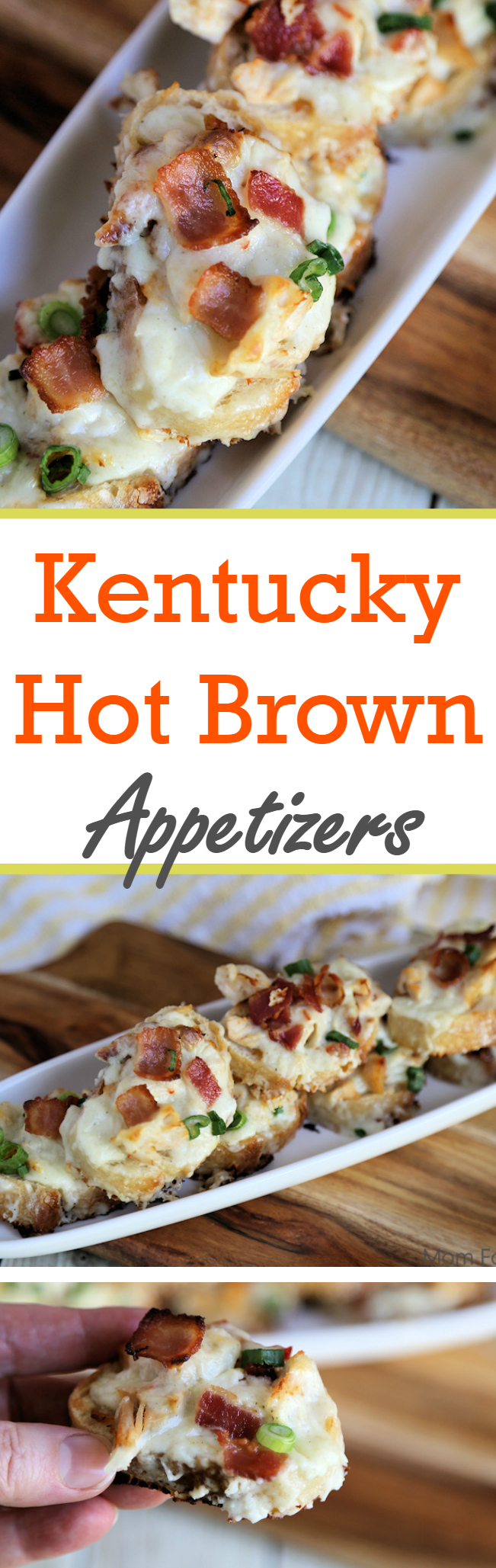Kentucky Hot Brown appetizer recipe - Great hot appetiser for parties. #kentuckyhotbrown #appetizers #derby #hot appetizers