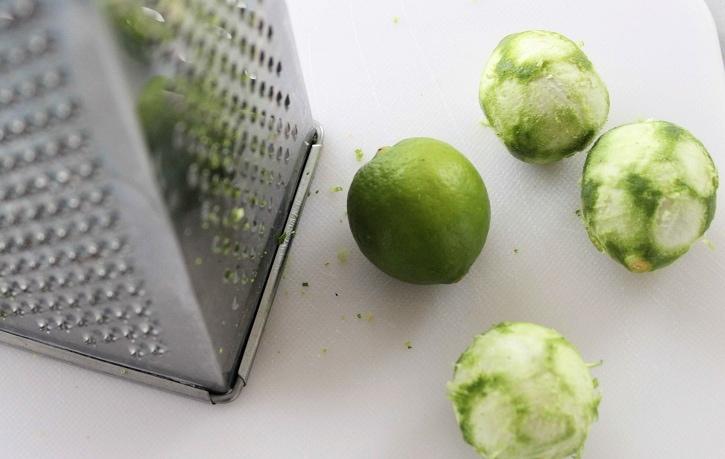 Key Lime Pie -zesting limes