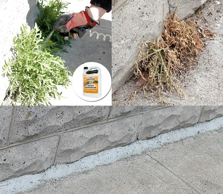 Killing weeds in cracks