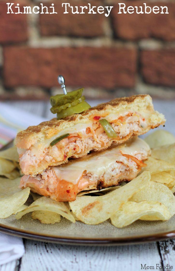 Kimchi Turkey Reuben Sandwich - Mom Foodie