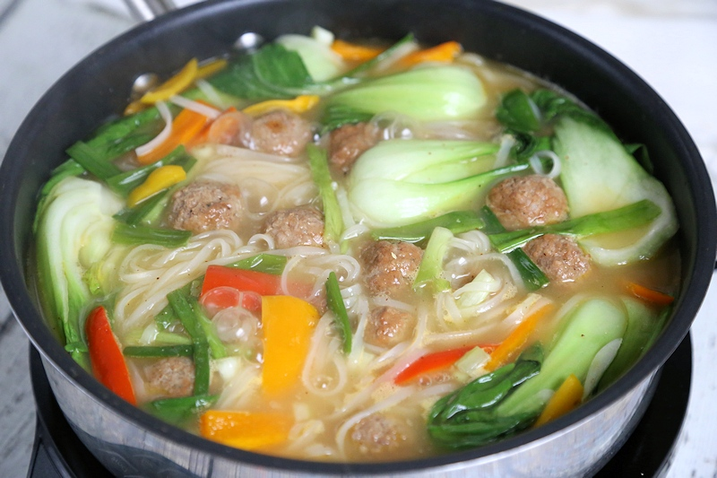 Korean Meatballs Hot Pot cooking