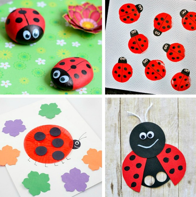 LadyBug Crafts Kids Art Projects