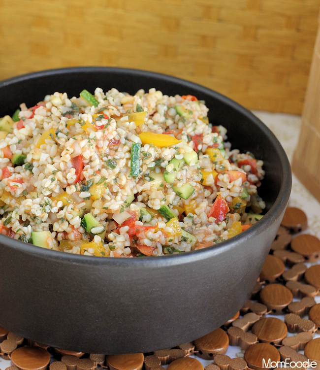 Lemon Balm Summer Veggie Tabouli recipe