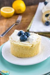 Lemon Cake Roll with Blueberries