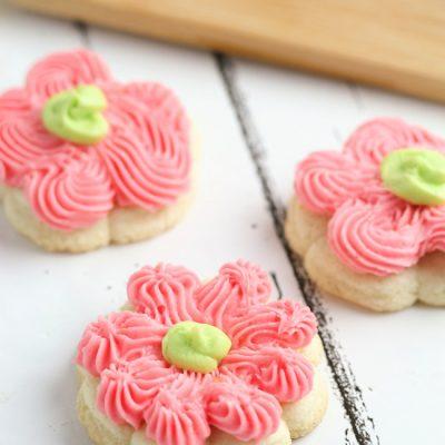 Lemon Cream Cheese Spritz Cookies
