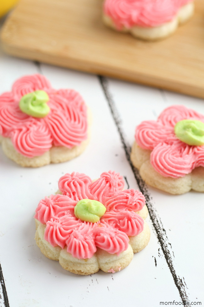 Lemon Cream Cheese Spritz Cookies