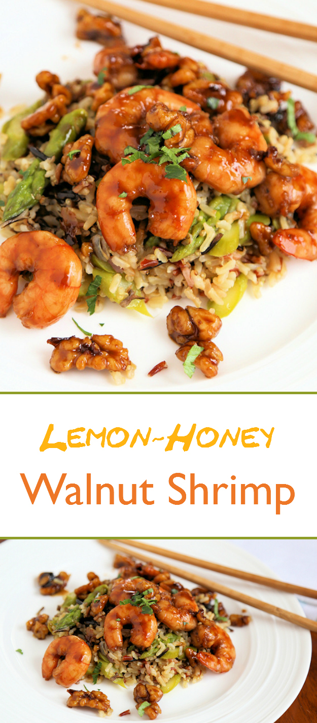 Lemon-Honey Glazed Walnut Shrimp