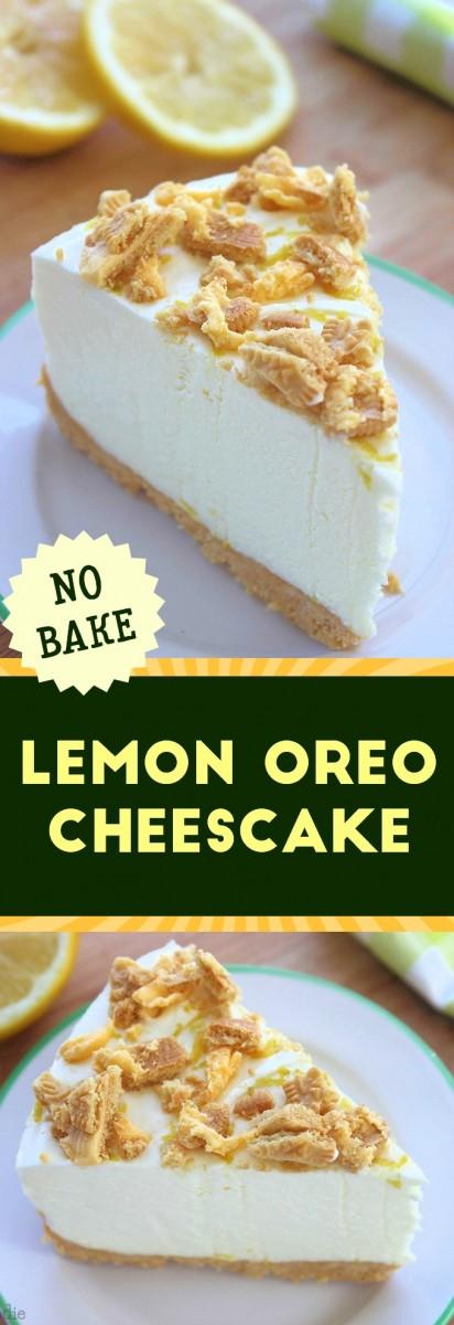 Lemon Oreo Cheesecake No bake