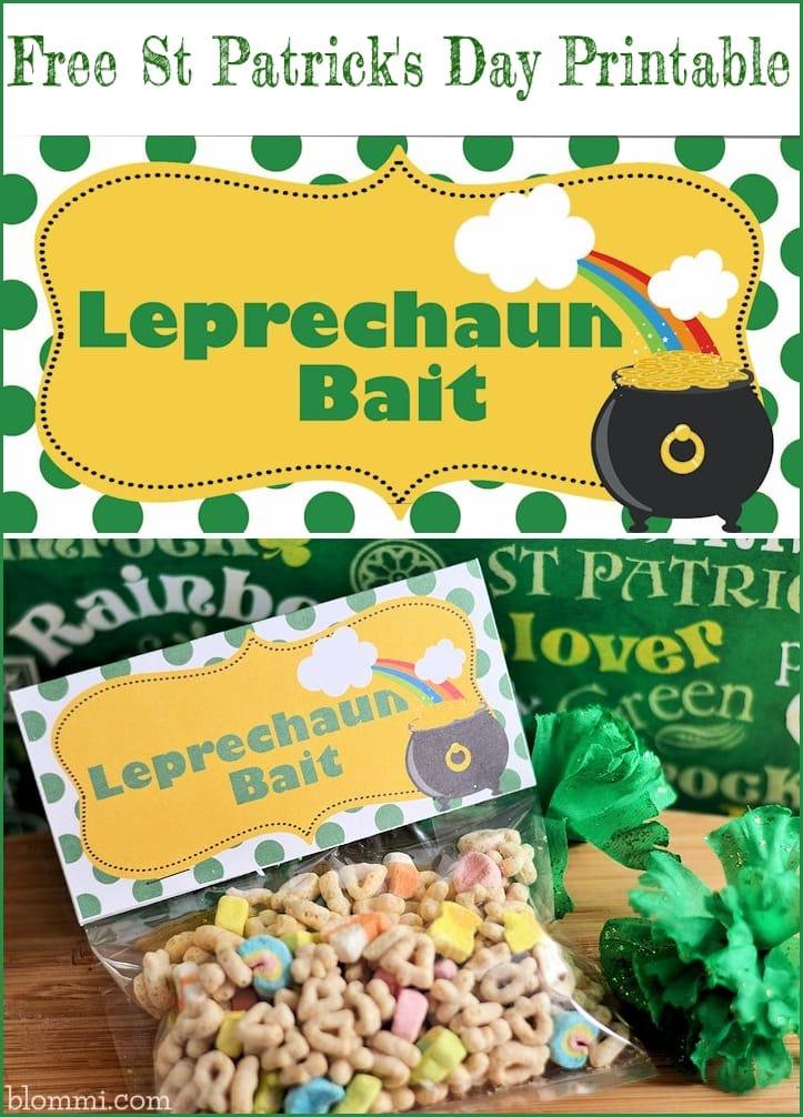 St. Patrick's Day Leprechaun Bait free printable