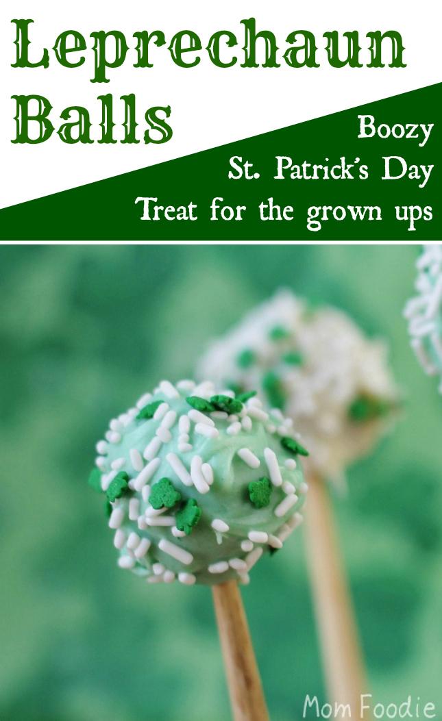 Leprechaun Balls - St Patricks Day treat for the grown ups. Alcoholic dessert