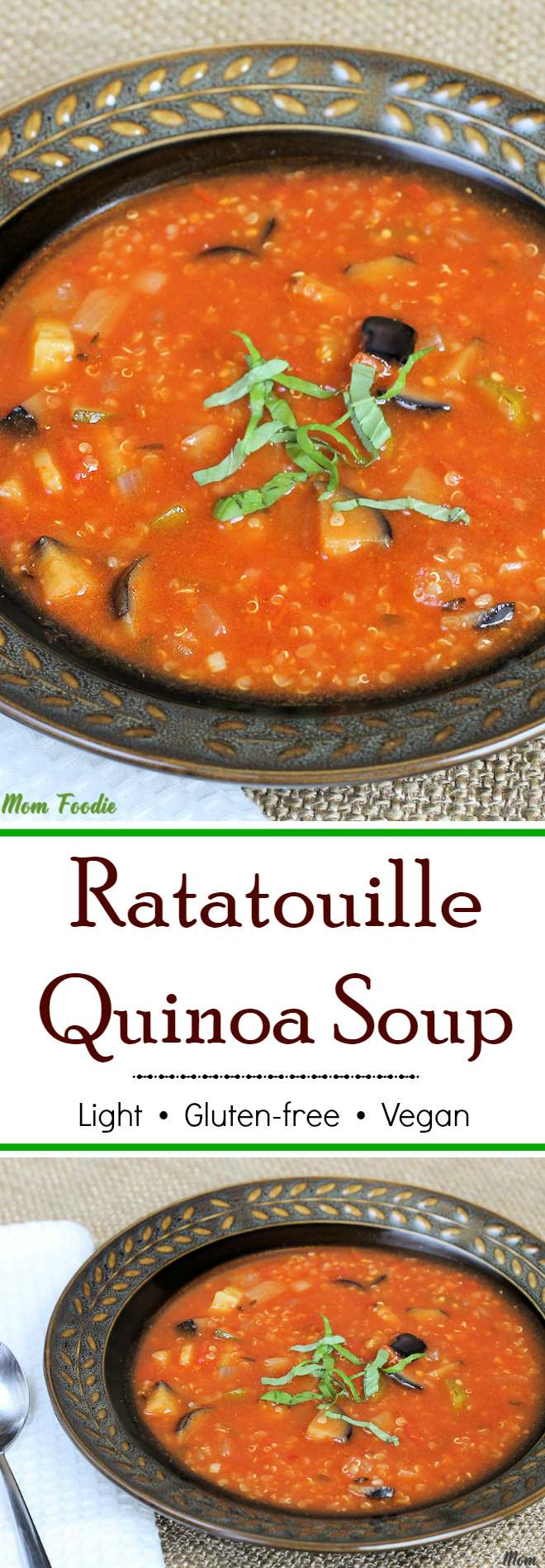 Light Ratatouille Quinoa Soup - gluten-free & vegan recipe