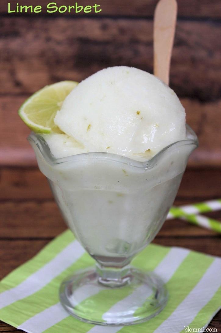 Lime Sorbet Recipe - Mom Foodie