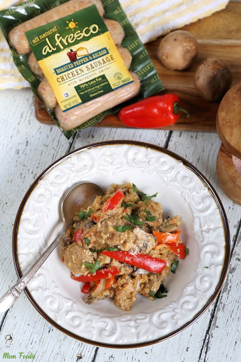 Low Carb Creamy Sausage Risotto