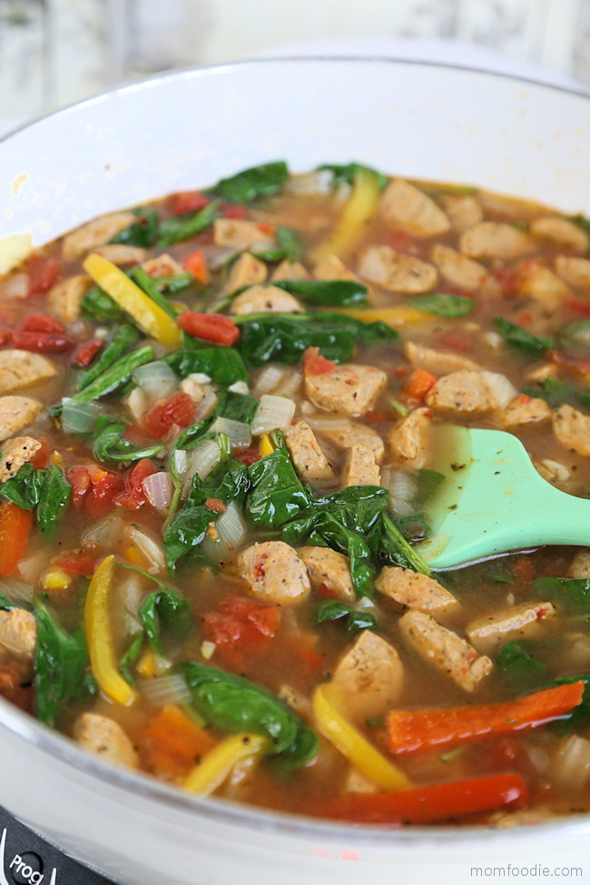 Low Carb Sausage Pepper Soup