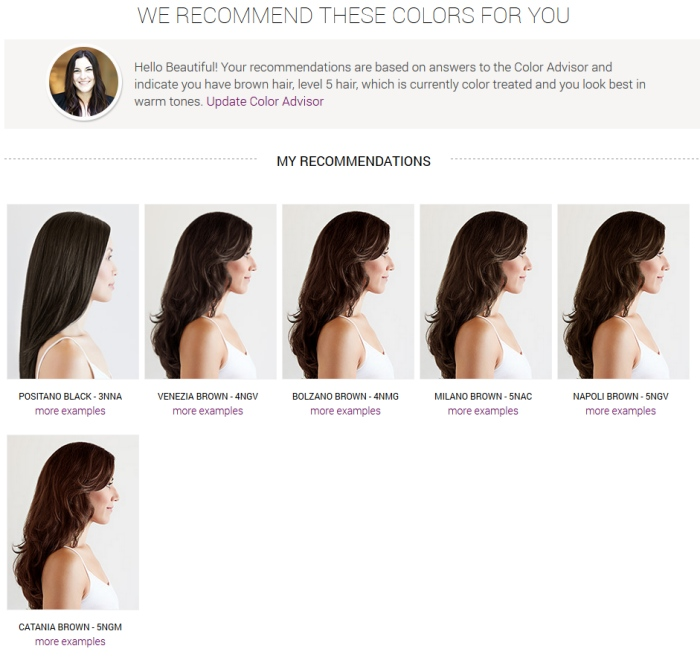 Madison Reed color choices