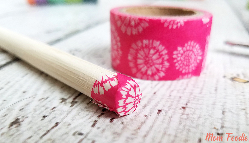 Washi Tape wrapped Kitchen Utensils