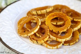 Maple Roasted Delicata Squash Rings
