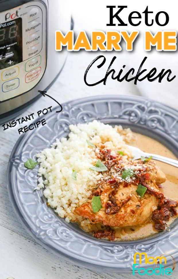 Keto Tuscan Chicken Instant Pot Recipe aka Marry Me Chicken
