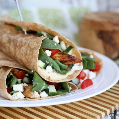 Mediterranean Grilled Chicken Wrap Recipe, and Eating Better on a Budget