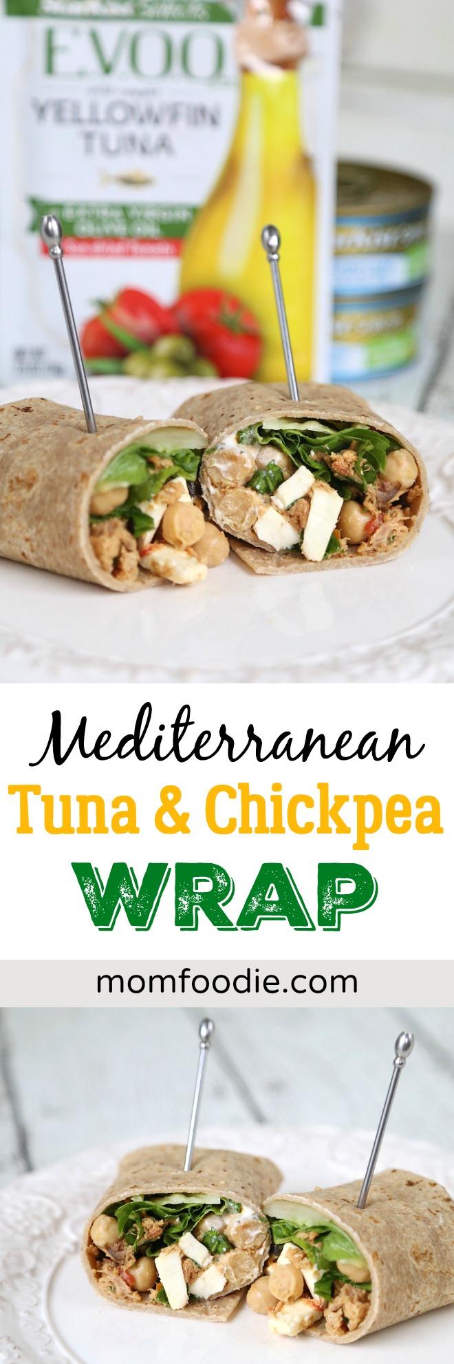 Mediterranean Tuna & Chickpea Wrap