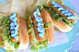 Mermaid Sandwich fish stick dogs with mermaid mayo