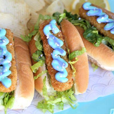 Mermaid Sandwich fish stick dogs with mermaid mayo