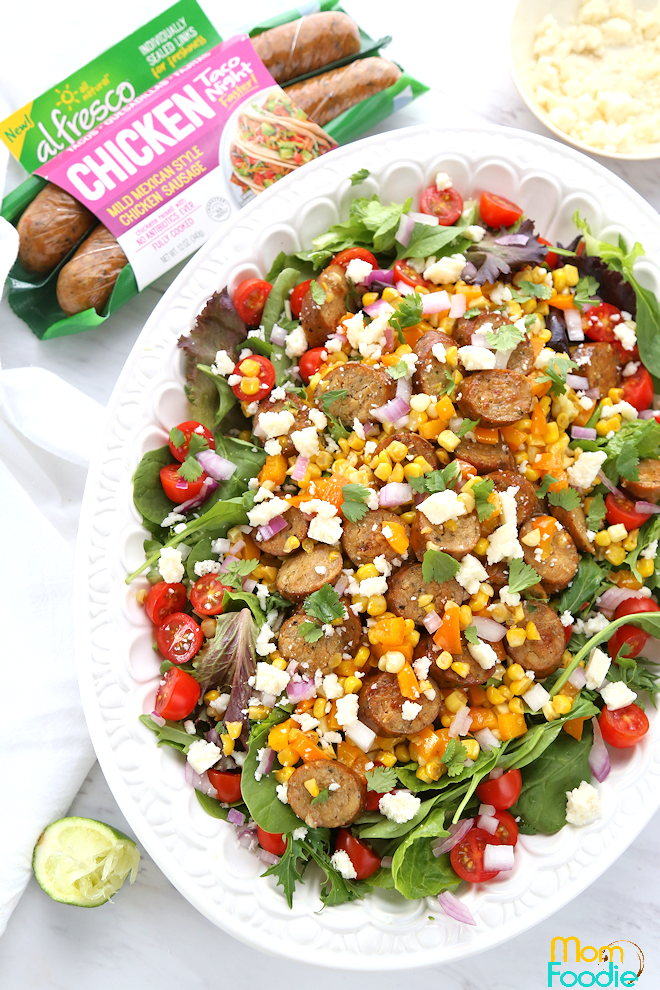 Mexican Chicken Sausage Corn Salad