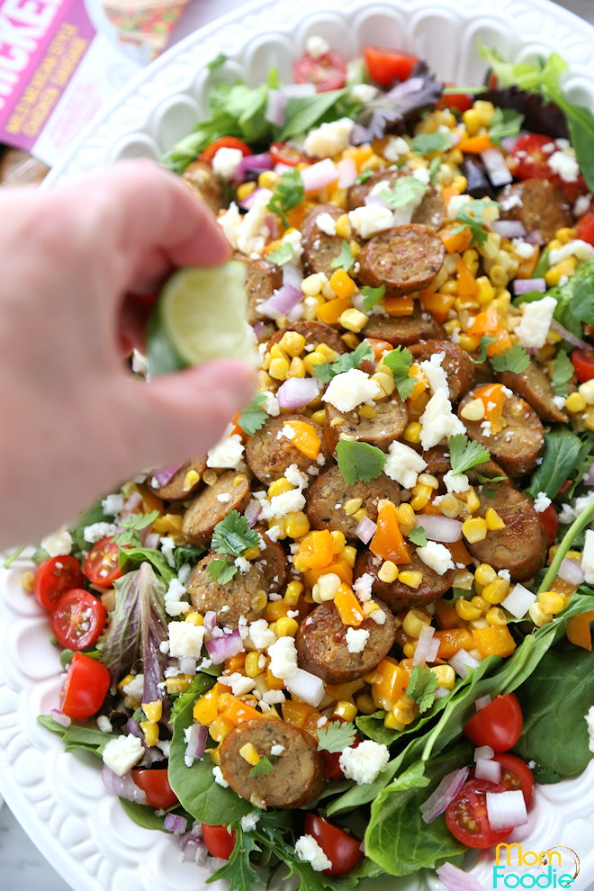 Mexican Corn and sausage salad