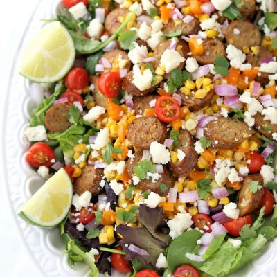 Mexican Sweet Corn and Sausage Salad