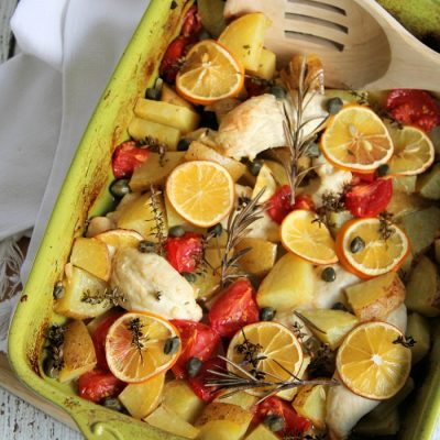 Meyer Lemon Chicken Bake