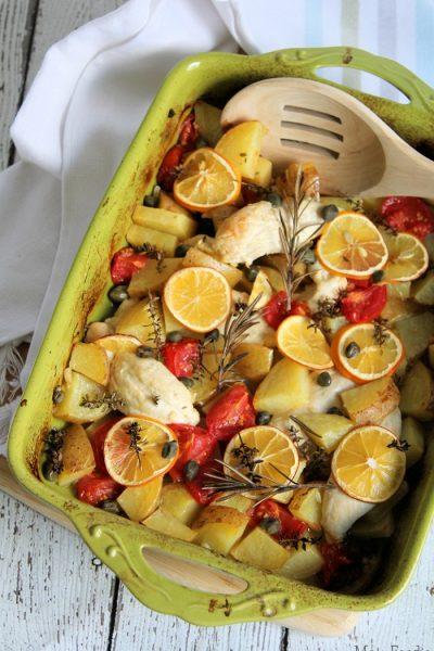 Meyer Lemon Chicken Bake