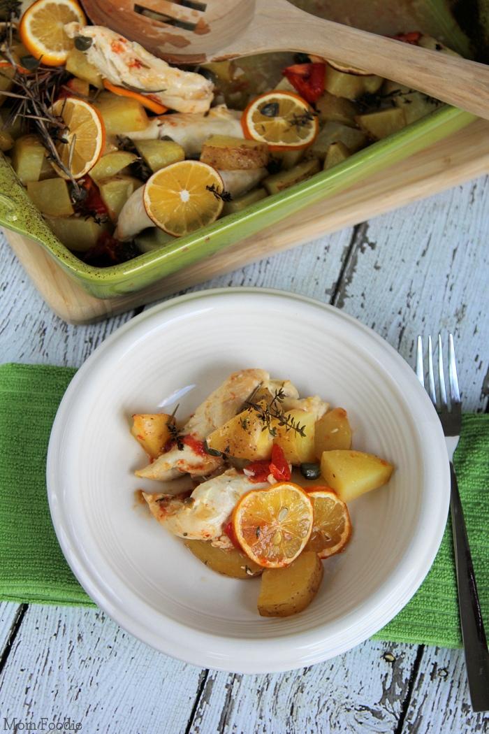 Meyer Lemon Chicken with potato casserole