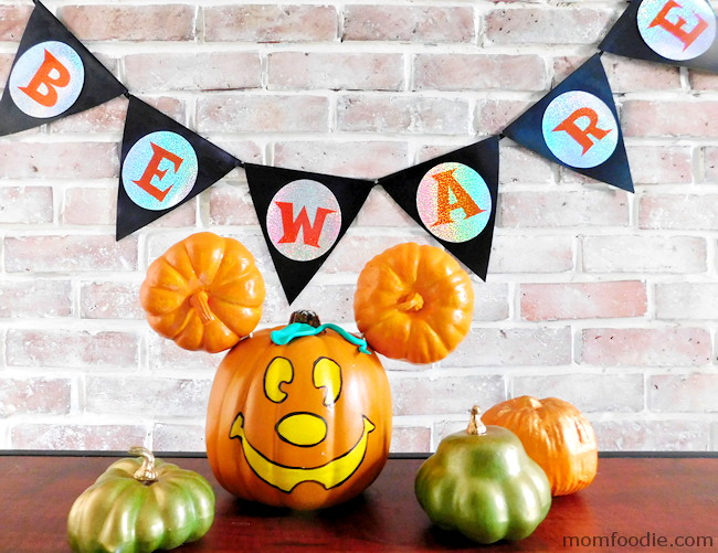 Mickey Mouse Painted Pumpkin