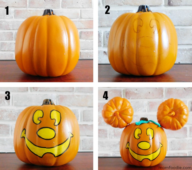 How to pain a Mickey Mouse Pumpkin