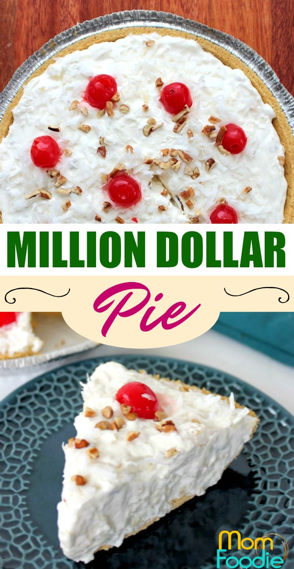 Million Dollar Pie recipe Pinterest image