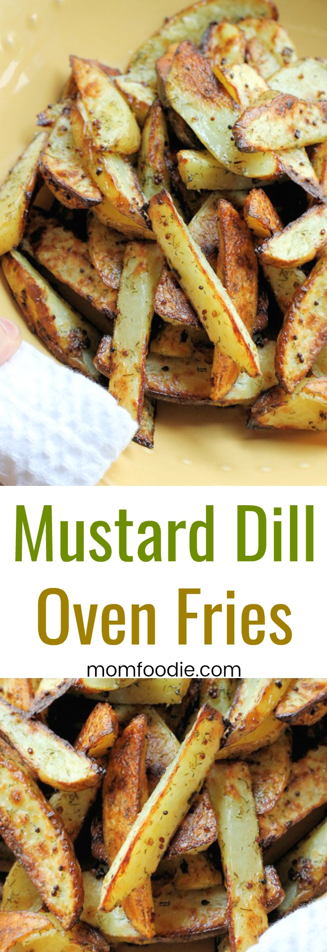 Mustard Dill Oven Fries - easy flavorful oven fries recipe.
