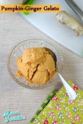 Non-dairy Pumpkin Ginger Gelato Recipe