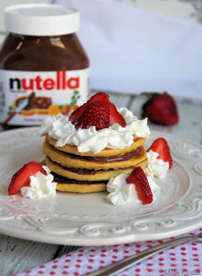 Nutella Pancake Stack