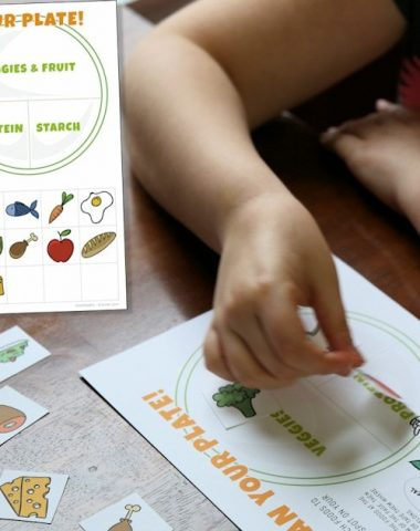 Kids Nutrition Activity Sheet - free printable build your plate activity