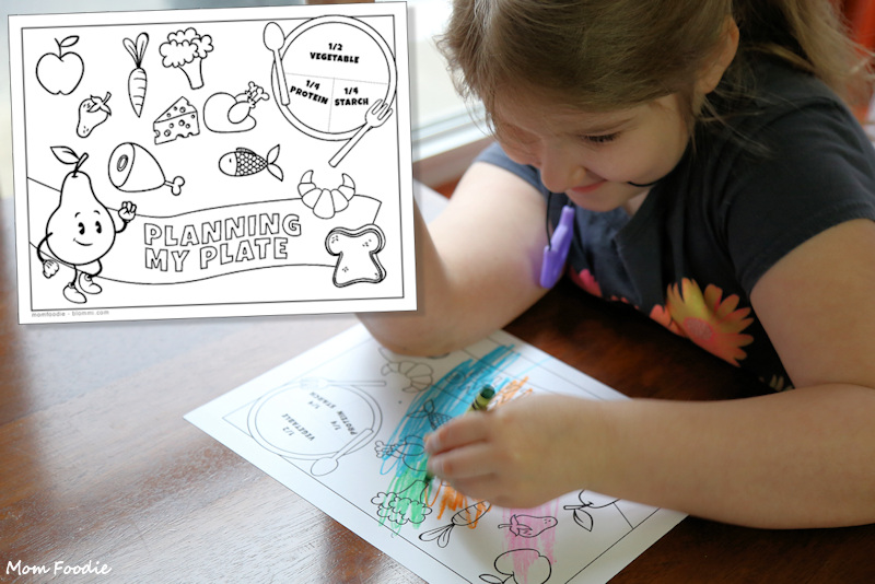 Nutrition Coloring Sheet - Free Printable