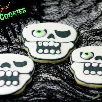 One Eye skull cookies
