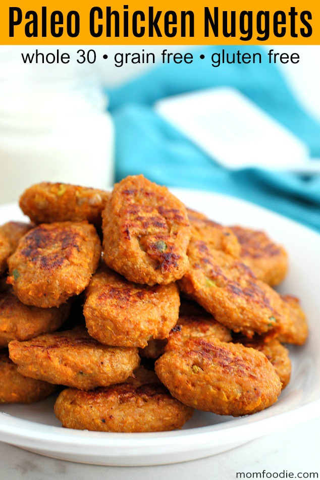 Paleo Chicken Nuggets pinterest
