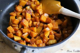 Pan Fried Butternut Squash with Garam Masala