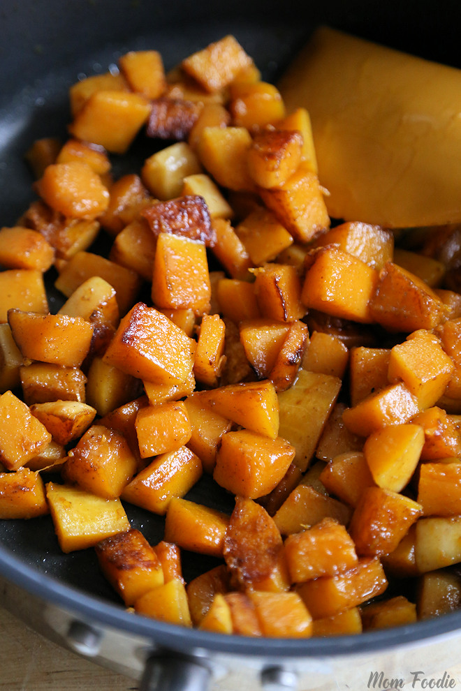 Pan Fried Butternut Squash with Garam Masala