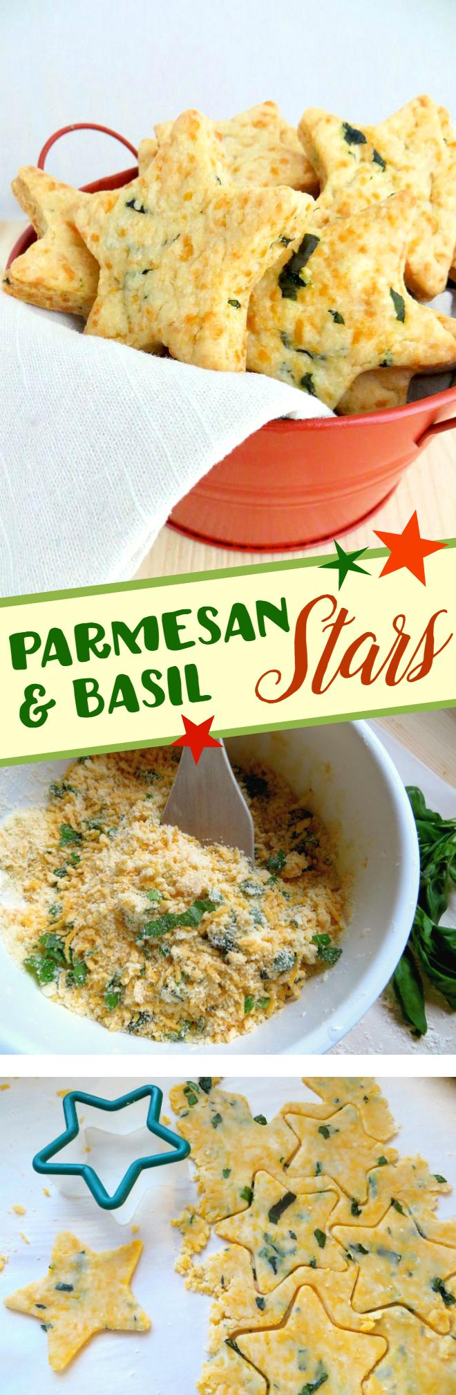 Parmesan & Basil Stars